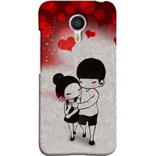 FUSON Designer Back Case Cover For YU Yunicorn :: YU Yunicorn YU5530 (Couple Enjoying Beautiful Lovers Red Hearts)