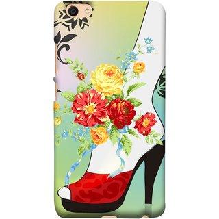 FUSON Designer Back Case Cover For Vivo Y55L :: Vivo Y55 (Nice Shoes Design Red Colour Womens Girls Females )