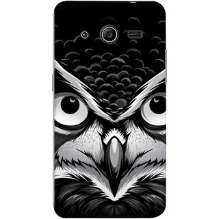 FUSON Designer Back Case Cover for Samsung Galaxy Core 2 G355H :: Samsung Galaxy Core Ii :: Samsung Galaxy Core 2 Dual (Grey Owl Night Vision Big Beak Killing Look)