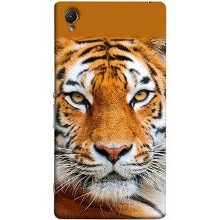 FUSON Designer Back Case Cover For Sony Xperia Z2 (5.2 Inches) (Wild Jungle Tigers Whisker Roaring Sitting Safari India)