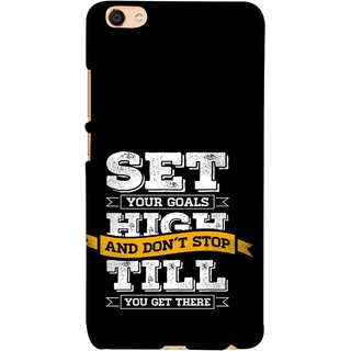 FUSON Designer Back Case Cover For Vivo Y55L :: Vivo Y55 (Till You Get There Dream Big And Achieve Big )