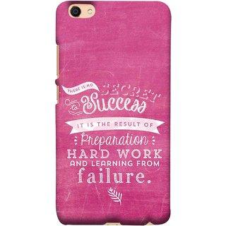 FUSON Designer Back Case Cover For Vivo Y55L :: Vivo Y55 (Result Of Preparation Hard Work Learning From Failure)