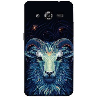 FUSON Designer Back Case Cover for Samsung Galaxy Core 2 G355H :: Samsung Galaxy Core Ii :: Samsung Galaxy Core 2 Dual (Bail Goat Horn Strong Bakara Style Design)