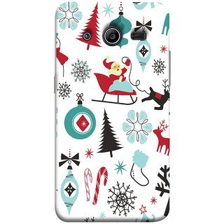 FUSON Designer Back Case Cover for Samsung Galaxy Core 2 G355H :: Samsung Galaxy Core Ii :: Samsung Galaxy Core 2 Dual (Santaclaus New Year Igloo Snowflakes Candy Cane )