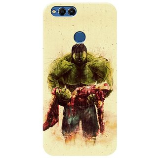Honor 7x Black Hard Printed Case Cover by HACHI - Hulk Fans design