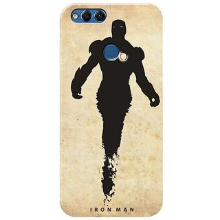 Honor 7x Black Hard Printed Case Cover by HACHI - Iron Man Fans design