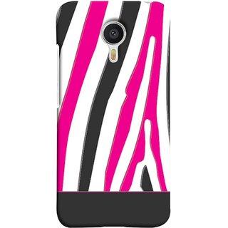 FUSON Designer Back Case Cover For YU Yunicorn :: YU Yunicorn YU5530 (Curved Straignt Acrylic Texture Lines Oil Paint Bright)