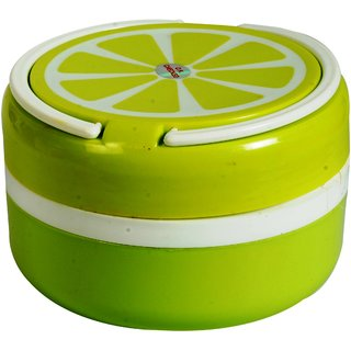 Sigaram Green Stainless Steel Lunch Box