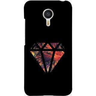 FUSON Designer Back Case Cover For YU Yunicorn :: YU Yunicorn YU5530 (Bright Beautiful Colour Strips And Band Wave Triangle)