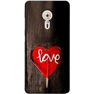 FUSON Designer Back Case Cover for Lenovo ZUK Z2 Pro (Big Tree Dark Red Candy Heart Shape)