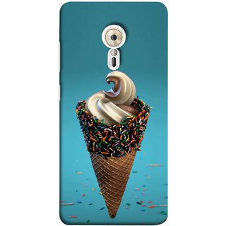 FUSON Designer Back Case Cover for Lenovo ZUK Z2 Pro (Pinky Frosted Sprinkled Waffle Cone Crispy Coffee Flavour)