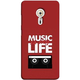 FUSON Designer Back Case Cover for Lenovo ZUK Z2 Pro (Black And White Songs Poems Musical Events Listen)