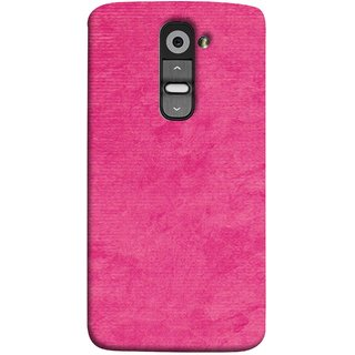 FUSON Designer Back Case Cover for LG G2 :: LG G2 Dual D800 D802 D801  D802TA D803 VS980 LS980  (Cloth Design Dark Pink Baby Maroon Paper Sheet )