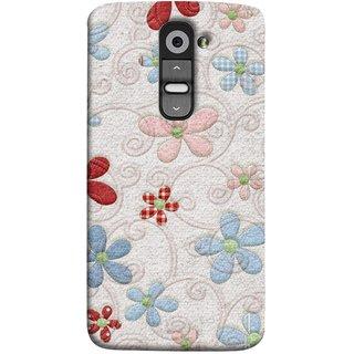 FUSON Designer Back Case Cover for LG G2 :: LG G2 Dual D800 D802 D801  D802TA D803 VS980 LS980  (Nice Design Flowers Table Cloth Curtain Cloths )