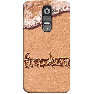 FUSON Designer Back Case Cover for LG G2 :: LG G2 Dual D800 D802 D801  D802TA D803 VS980 LS980  (Writing In Sand Fuzzy Water Handwritten Best Designn)