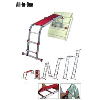 Youngman aluminium multipurpose ladder for trade or home use  works as a stepladder extension ladder and work bench.