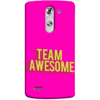 FUSON Designer Back Case Cover for LG G3 Stylus :: LG G3 Stylus D690N :: LG G3 Stylus D690 (Teamwork Is Best Hardwork Alltogether Result Best)