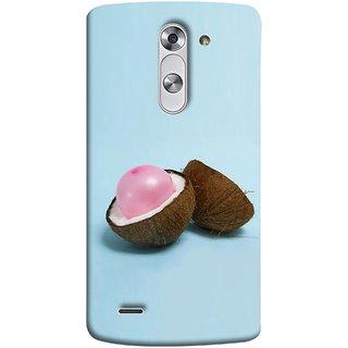 FUSON Designer Back Case Cover for LG G3 Stylus :: LG G3 Stylus D690N :: LG G3 Stylus D690 (Coconut Bubble Baloon White Coconut Brown Shell)