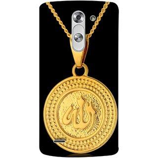 FUSON Designer Back Case Cover for LG G3 Stylus :: LG G3 Stylus D690N :: LG G3 Stylus D690 (Allah Pendant Necklace For Men Middle East Necklaces)