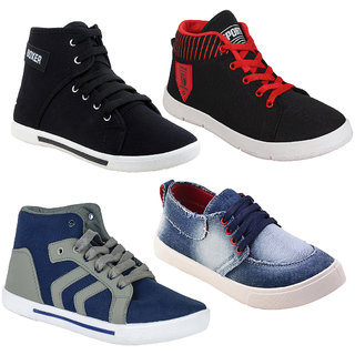 Super Men Combo Pack of 4 (Casual Sneakers Shoes)