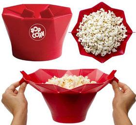 Microwave Popcorn Popper Maker - RED