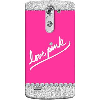 FUSON Designer Back Case Cover for LG G3 Stylus :: LG G3 Stylus D690N :: LG G3 Stylus D690 (Always Like Pink Colours Small Diamonds Girls)