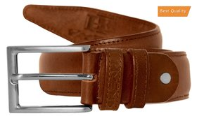 HyEnd Men's Brown Pure Leather Formal Belt