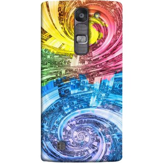 FUSON Designer Back Case Cover for LG G4 Mini :: LG G4c :: LG G4c H525N (Yellow Pink Blue Green Galaxy Waves Circles Sprial)