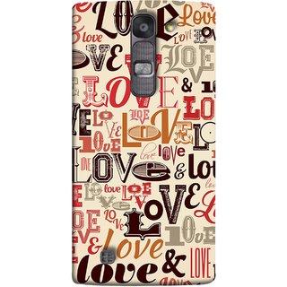 FUSON Designer Back Case Cover for LG G4 Mini :: LG G4c :: LG G4c H525N (Red Black Only Love Grey Symbols Victory Brown )