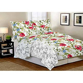 Home Berry 3D Double Bedsheet with 2 Pillow Covers