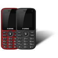 Forme N5+(Combo Of 2 Selfie Phones) Black+Red With Red+