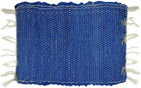 Home Berry Cotton Chindi Mat Blue 12 Inch 18 Inch 1 Pi