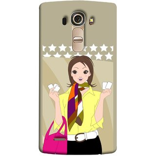 FUSON Designer Back Case Cover for LG G4 :: LG G4 Dual LTE :: LG G4 H818P H818N :: LG G4 H815 H815TR H815T H815P H812 H810  H811  LS991 VS986 US991 (Animated 3D Starts Pink Bag Jeans Pant Yellow Shirt )