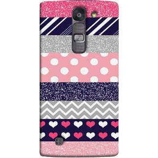FUSON Designer Back Case Cover for LG G4 Mini :: LG G4c :: LG G4c H525N (Colourful Patterns Hearts Lines Checks Dark Red )