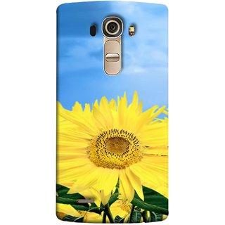 FUSON Designer Back Case Cover for LG G4 :: LG G4 Dual LTE :: LG G4 H818P H818N :: LG G4 H815 H815TR H815T H815P H812 H810  H811  LS991 VS986 US991 (Field With Bright Blue Sky Summer Sunlight Leaves)