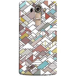 FUSON Designer Back Case Cover for LG G4 :: LG G4 Dual LTE :: LG G4 H818P H818N :: LG G4 H815 H815TR H815T H815P H812 H810  H811  LS991 VS986 US991 (Watercolor Horizontal Vertical Vector Lines Colourful)