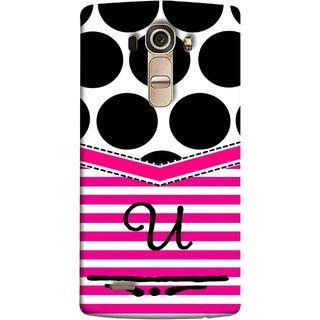 FUSON Designer Back Case Cover for LG G4 :: LG G4 Dual LTE :: LG G4 H818P H818N :: LG G4 H815 H815TR H815T H815P H812 H810  H811  LS991 VS986 US991 (Beautiful Cute Nice Couples Pink Design Paper Girly U)