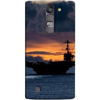 FUSON Designer Back Case Cover for LG G4 Mini :: LG G4c :: LG G4c H525N (Sunrise Sunset With Silhouette Of Navy Ship Sailing Away)