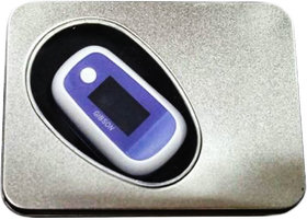 GIBSON FINGERTIP PULSE OXIMETER BLUE (NEW MODEL ) WITH TIN CASE