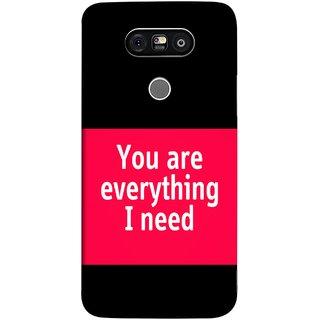 FUSON Designer Back Case Cover for LG G5 ::  LG G5 Dual H860N :: LG G5 Speed H858 H850 VS987 H820 LS992 H830 US992 (Tu Tum Aap Mere Liye Sub Kuch Maze Vishwa )