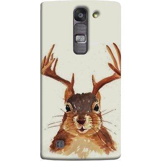 FUSON Designer Back Case Cover for LG G4 Mini :: LG G4c :: LG G4c H525N (Jackrabbit Wolpertinger Hipster Vintage Jackalope Head)