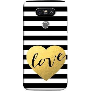 FUSON Designer Back Case Cover for LG G5 ::  LG G5 Dual H860N :: LG G5 Speed H858 H850 VS987 H820 LS992 H830 US992 (Hearts Lovely Girls True Love Dark Font)