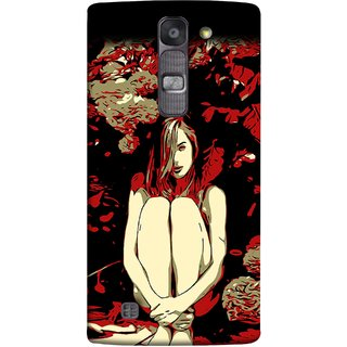 FUSON Designer Back Case Cover for LG G4 Mini :: LG G4c :: LG G4c H525N (Photo Upset Sitting In Garden Hands Together Pub Thinking)