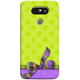 FUSON Designer Back Case Cover for LG G5 ::  LG G5 Dual H860N :: LG G5 Speed H858 H850 VS987 H820 LS992 H830 US992 (Pista Green Colour Gift Wrap Packing Wallpaper)