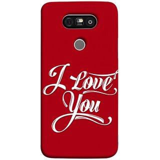 FUSON Designer Back Case Cover for LG G5 ::  LG G5 Dual H860N :: LG G5 Speed H858 H850 VS987 H820 LS992 H830 US992 (I Love You Always Lovers Valentine Hearts Kiss )
