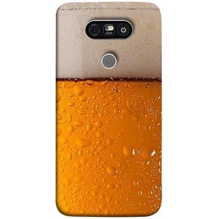 FUSON Designer Back Case Cover for LG G5 ::  LG G5 Dual H860N :: LG G5 Speed H858 H850 VS987 H820 LS992 H830 US992 (Cold Chilled Beer Glass Tub Pint Bubbles Full)