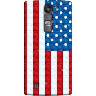 FUSON Designer Back Case Cover for LG G4 Mini :: LG G4c :: LG G4c H525N (United Stated Of America Flag Embroidered Stars)