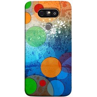 FUSON Designer Back Case Cover for LG G5 ::  LG G5 Dual H860N :: LG G5 Speed H858 H850 VS987 H820 LS992 H830 US992 (Lot Small Big Circles Glass Door Table )