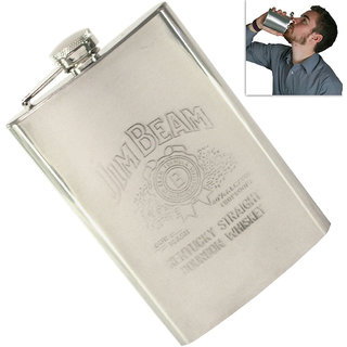 07 oz Drinks STAINLESS STEEL Hip Wine Flask Screw Cap Cups Funnel - 79
