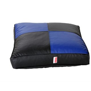 Comfy Bean Bags - Floor Cushion Bean Bag - Size Large - Filled With Beans Filler ( Black Blue )
